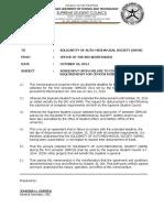Memorandum Oo8