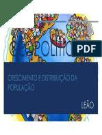 Aula 01 - Geopolítica - Crescimento e Distribuição Do População