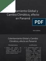 Presentación Calentamiento Global y Cambio Climático en Panamá