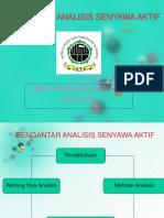 Analisis Senyawa Aktif