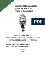 Proyecto de Grado Electrificacion UMSA
