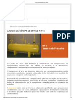 Laudo de Compressores NR13