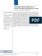 A Mechanism-Based Approach to Physical Therapist Management of Pain
