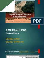 2. Ing. Pedro Isique - Aspectos Geológicos y Geotécnicos de Deslizamientos