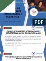 Espacios de Monitoreo de Emergencias y Desastres 29 de Mayo