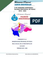 Plan de Gobierno de Marco de La Cruz Bustillos Pasco