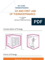 Energy and First Law of Thermodynamics