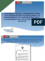 Presentacion 03_doc Tecnico_plan Mantenimiento