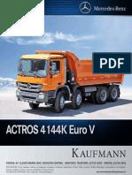 Ficha Tecnica Actros 4144 K EURO V