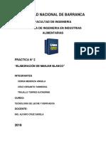Practica n2 - Elaboracion de Manjarblanco (1) (1)