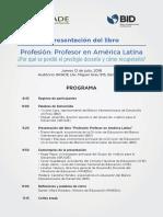 """Programa - Presentación del libro """"Profesión en América Latina"""""""
