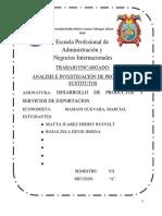 PRODUCTOS SUSTITUTOS monografia