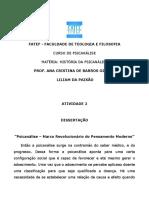 """""""Psicanálise – Marco Revolucionário Do Pensamento Moderno"""""""