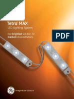 GE LED Signage Lighting Tetra Max Data Sheet