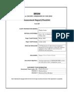 BRSM FORM 009 Assessment Report Summary