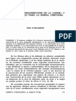 Bachiarius LA FÓRMULA «RESURRECCIÓN DE LA CARNE»