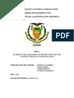 El Impacto de La Recesión Económica en El Sector Constructor de La Ciudad de Quito Com