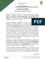 Reglamento Operativo Afros Arauca 31-01-2018