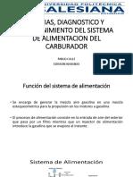 Averias, Diagnostico y Mantenimiento Del Sistema de Alimentacion Del Carburador