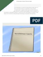 Como Descarregar Um Capacitor_ 5 Passos (Com Imagens)