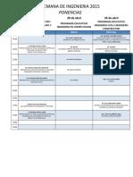 Agenda Semana de Ingenieria