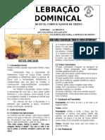 Folheto Corpus Christi 2018