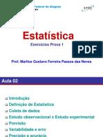 ExerciciosEstatisticaSlidesProva1