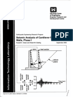 Seismic Analysis of Cantilever Retaining Walls