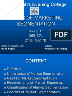 Bases of Marketing Segmentation