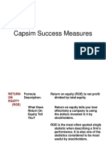 Capsim Success Measures