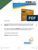Crediclub Carta Debito 17x16,5cm