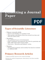 Dissecting a Journal Paper