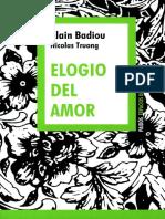 Elogio Del Amor [Alain Badiou y Nicolas Truong]
