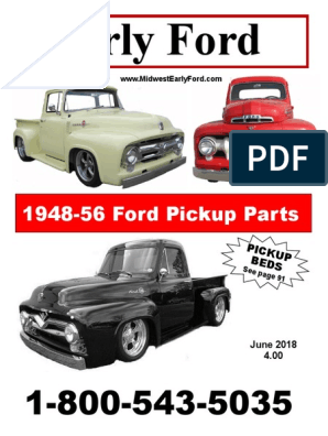 1948 1949 1950 1951 1952 Ford Pickup Truck F1 Rubber Hood Bumper Kit 9 Piece Set
