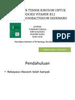 Penerapan Teknik Ribosom Untuk Produksi Vitamin b12