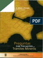 preguntas mas frecuentes en tramites mineros.pdf