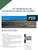 Gestión de Cambio Reglamento Transporte