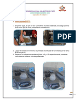 Procedimiento y Calculos - Gravedad Especifica