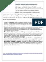 Política Nacional de Atenção Integral Da Saúde Do Homem (PNAISH)