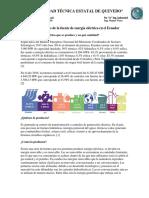 Características de La Fuente de Energía Eléctrica en El Ecuador