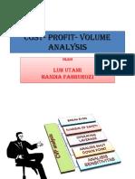 Cost- Profit- Volume Analysis