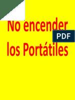 No Encender Los Portátiles