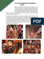 Grupos Que Son Discriminados en América Latina y La Gonorrea