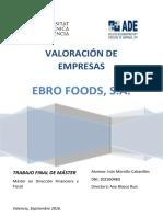 Morcillo - Valoración Económica de La Empresa Ebro Foods, s.a.