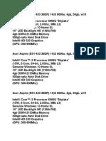 Acer Aspire Laptop for Kin