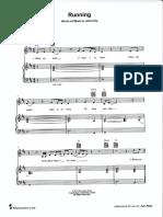 Running James Bay PianoSheet Music PDF