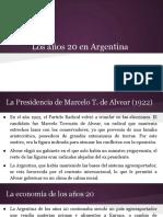Los Años 20 en Argentina