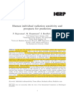 Human Individual Radiation Sensitivity and Prospects for Prediction ICRP 2017