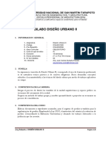 Silabo Diseño Urbano II