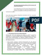 Porque Fue Tan Importante La Independencia Del Virreinato Del Perú en Los Planes de San Martin